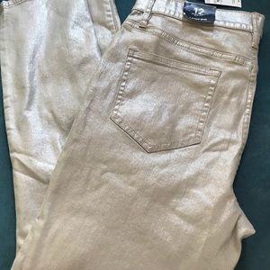Lands End Shimmer Foil Jeans